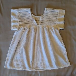 Handmade Traditional Embroidered Mexican Blouse